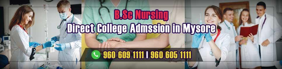 Direct Admission BSc Nursing in Mysore